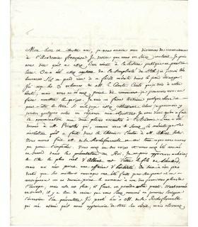 BAILLY (Jean Sylvain). Mathématicien, astronome. Premier Maire de Paris. Lettre de 1784 (Réf. G 3735)