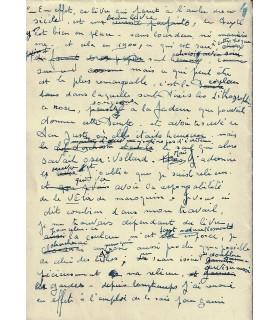 BONET Paul, relieur. Manuscrit autographe