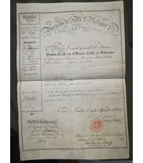 PASSEPORT P.I. signée par le Consul général de France à Londres.