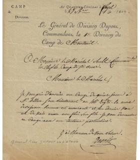 DUPONT DE L'ESTANG Pierre. 16 novembre 1804.