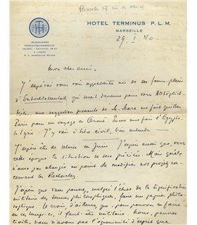 """KOYRE Alexandre, en janvier 1940, """"Weil et Kojève ont été called to the arms..."""""""