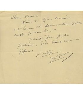 FULLER Loïe. Danseuse américaine. Egérie de Toulouse-Lautrec. Lettre (Réf. G 4315).