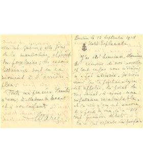 BONAPARTE MARIE, elle suit une analyse avec Freud à Berlin, 12 sept 1928