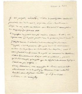 BAUSSET-ROQUEFORT (Louis-François de), évêque d'Alès. Lettre du 14 mars 1789 (Réf. G 5513)