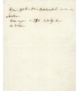 BONAPARTE (Napoléon) Général. Empereur des Français. Note autographe. Réf. G 5517.