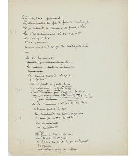 COCTEAU Jean. Manuscrits de poèmes sur la Grande Guerre (Réf. G 5491)
