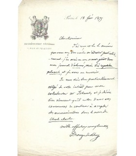 DROUYN DE L'HUYS (Édouard). Diplomate, Ministre des Affaires étrangères.