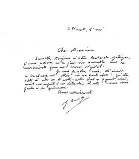 GRACQ Julien. Ecrivain. Lettre autographe au photographe et spécialiste de Duchamp, Jean Suquet (Réf. G 5378)