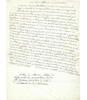 MARIE LOUISE DE NAPLES. Religieuse italienne. Lettre autographe (G 4676)
