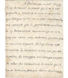 MARIE LOUISE DE SAVOIE. REINE D'ESPAGNE, Lettre à Louis XIV.