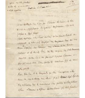 MARMONT Auguste Viesse de, duc de Raguse. Maréchal d'Empire. Minute autographe à Napoléon 1er (Réf. G 5504)