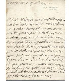 MONTMORENCY duc de Luxembourg. 9 octobre 1691.