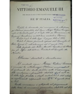 MUSSOLINI - VICTOR-EMMANUEL III. Pièce signée (G 3516)