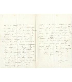 RICARD Gustave, peintre. 2 lettres autographes (G 3718)