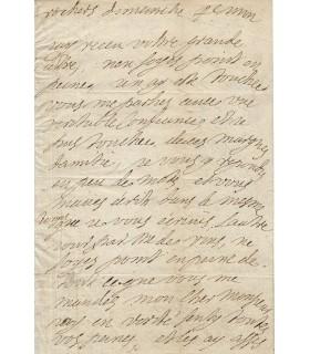 SEVIGNE MADAME DE, célèbre épistolière. Lettre autographe (G 5508)