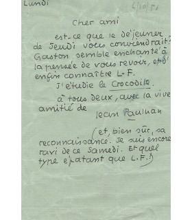 PAULHAN Jean, 6 octobre 1951 (Réf. G 184)