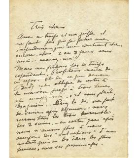 BATAILLE (Henry). Dramaturge. Passionnantes lettres à Lucien Guitry (Réf. G 4427)