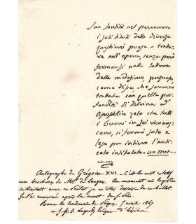 GREGOIRE XVI (CAPPELLARI Bartolomeo).