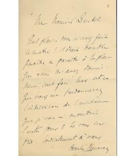 MAURRAS à Félix Jeantet, directeur de la Revue hebdomadaire
