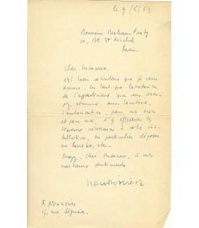 NOURISSIER à Merleau-Ponty (3 lettres)