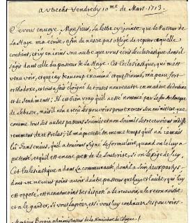 BOUILLON (Emmanuel Théodose de La Tour d'Auvergne, cardinal de). Lettre avec APOSTILLE signée ( G 5484)
