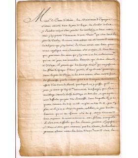 LOUIS XIV. Roi de France. Lettre signée (secrétaire)(G 5499)