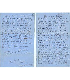 RICHEPIN Tiarko, lettre du jeune compositeur