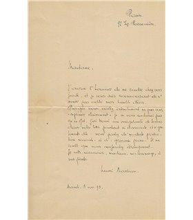 BARBUSSE Henri. 5 novembre 1895