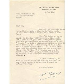 MALRAUX, au sujet de l'éditeur Albert Skira