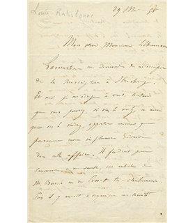 LAMARTINE. Louis RATISBONNE, souscription nationale en faveur de Lamartine