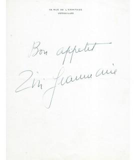 JEANMAIRE Zizi, danseuse. Billet autographe (G 3328)