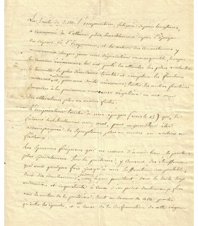 CORVISART (Jean-Nicolas), médecin. Lettre autographe (G 3724)