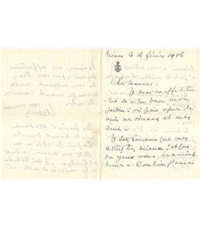 BONAPARTE MARIE, pionnière de la psychanalyse en France, 16 février 1926
