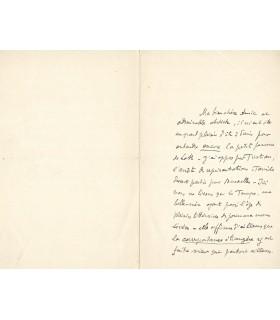 TERRASSE Claude. Compositeur. Beau-frère du peintre Pierre Bonnard. Lettre autographe (G 411)