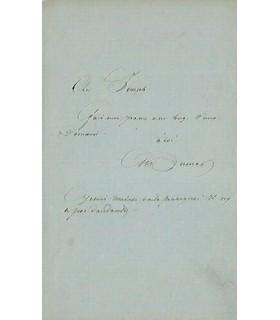 DUMAS Alexandre, romancier. Lettre autographe (G 4161)