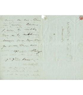 HUGO Victor, poète, romancier, dramaturge. Lettre autographe (G 4382)
