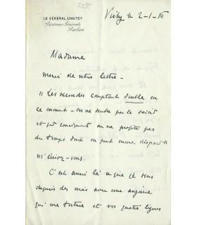LYAUTEY Hubert, militaire français. Lettre autographe (G 4965)