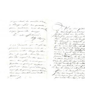 CLAPISSON Louis, compositeur. Lettre autographe (G 4588)