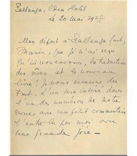 BONAPARTE MARIE, pionnière de la psychanalyse, 20 mai 1927