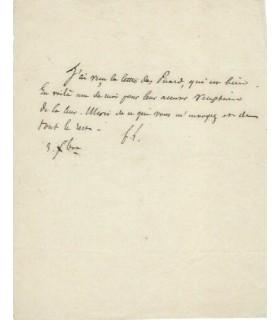 LAMENNAIS Félicité de, écrivain. Lettre autographe (G 4630)