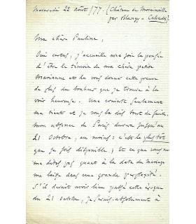 GOUNOD Charles, compositeur. Lettre autographe (G 5360)