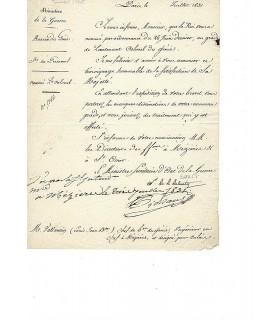 SOULT Nicolas, dit Duc de Dalmatie. 3 pièces signées (G 4974)