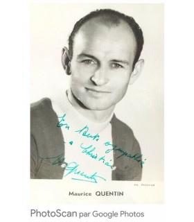 QUENTIN Maurice, coureur cycliste. Photographie noir et blanc, signée, dédicacée (G 4987)