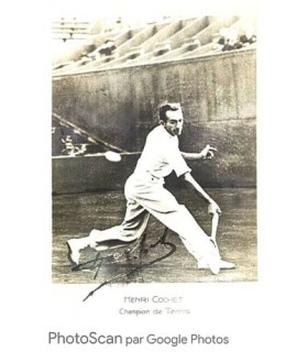 COCHET Henri, tennisman. Photographie signée (G 4988)