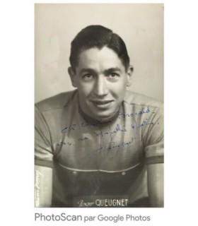 QUEUGNET Roger, coureur cycliste. Photographie noir et blanc, signée et dédicacée (G 4993)