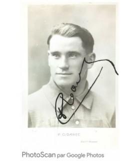 CLOAREC PIERRE, COUREUR CYCLISTE. Photographie noir et blanc signée (G 4998)