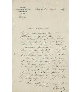 LECOUTEUX Edouard, agronome. 4 Lettre autographe (G 5160)