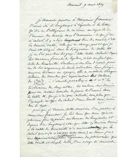 SAVARY Félix, astronome et mathématicien. Lettre autographe (G 552)