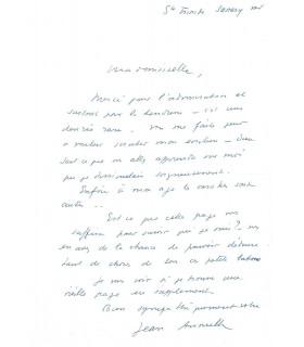 ANOUILH Jean, dramaturge. Manuscrit autographe et Lettre autographe (G 5283)