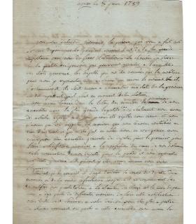 LAMARQUE Pierre-Antoine, curé. Lettre autographe (G 1504)